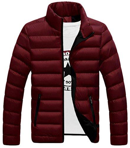Cappotto Del 4xl Caldo Eku Noi Maschile Rosso Moda Basamento D'inverno Collare Zip Piumini qaXw1