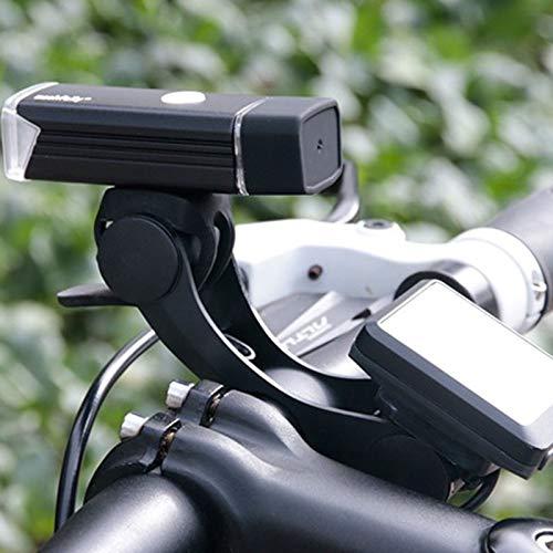 JVSISM Soporte De Montaje del Velocimetro del Faro De La Bicicleta Extensor De Instalacion De Manillar De Bicicleta V Forma Soporte De Estacion Soporte De Barra Doble
