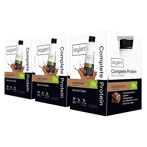 Soylent Complete Protein Gluten-Free Vegan Protein Meal Replacement Shake, Chocolate, 11 Oz, 12 Pack 5