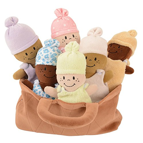Basket of Babies Creative Minds Plush Dolls, Soft Baby Dolls Set, 6 Piece Set for All Ages