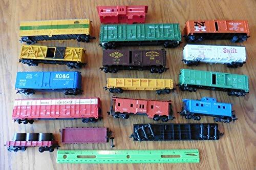 HO scale Lot of trains NH Boxcar Swift NYC Caboose flat Boise Cascade KO&G NYMX