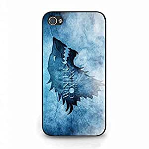 Winter Is Coming, Game Of Thrones Smartcarcasa de telefono, Charming Soft TPU funda For iPhone 4/iPhone 4S Cell carcasa de telefono