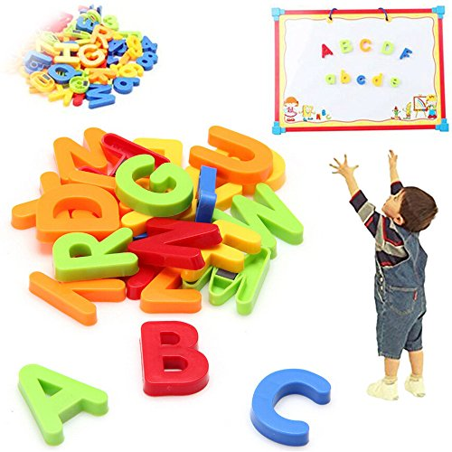 【Best Deals】OriGlam 80pcs Magnetic Letters and Numbers for Toddlers Refrigerator Magnet- Educating Child In (Magnetic Plastic Letters)