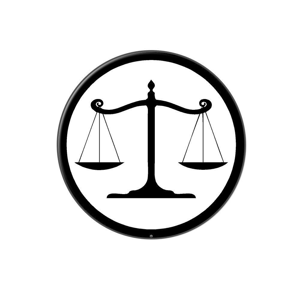 amazon com balanced scales of justice symbol legal lawyer white rh amazon com scales of justice vector logo scales of justice logo free