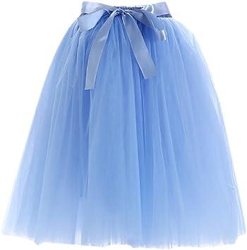 SaiDeng Faldas Tul De Fiesta para Mujer Señora Faldas Plisada De ...