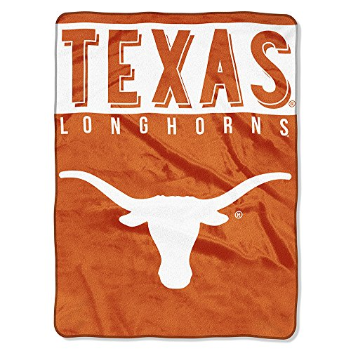 The Northwest Company Officially Licensed NCAA Texas Longhorns Basic Plush Ra...