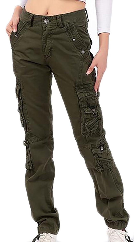 81d213b232 Top11: Pandapang Womens Rugged Straight Leg Multi Pockets Regular Cargo  Pants