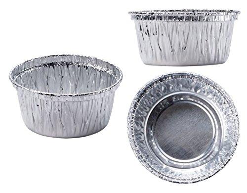 50 Aluminum Foil Muffin Cupcake Ramekin 4oz Cups