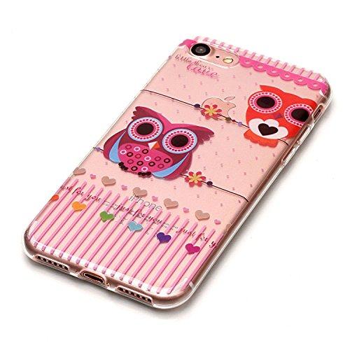 iPhone 8 Hülle,Nette Tiere Premium Handy Tasche Schutz Transparent Schale Für Apple iPhone 8 + Zwei Geschenk
