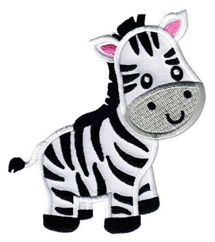 PatchMommy Iron On Patch, Zebra - Appliques for Kids ()