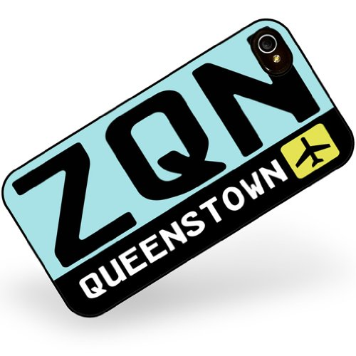rubber-case-for-iphone-4-4s-airport-code-zqn-queenstown-country-new-zealand