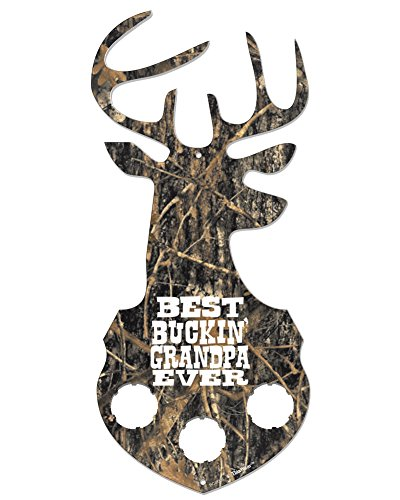 Bottle Cap Sign Best Buckin Grandpa Camouflage Deer Head Sign 5.5