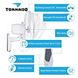 Tornado 16 Inch Digital Wall Mount Fan - Remote