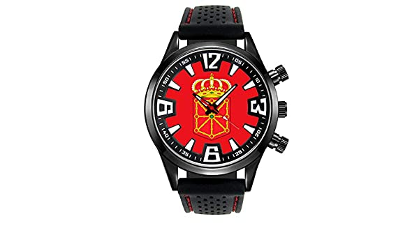 Timest - Bandera de Navarra España - Reloj para Hombre con Correa de Silicona Negro Analógico Cuarzo SF527: Timest: Amazon.es: Relojes