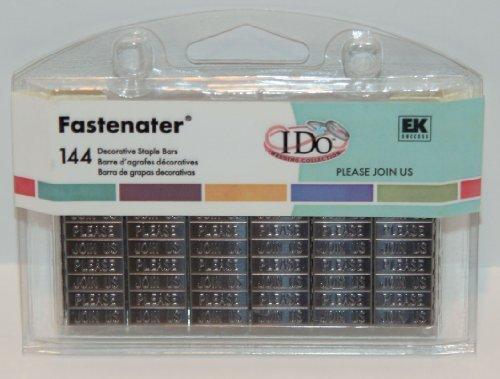EK Success Fastenater PLEASE JOIN US Embellished 144 Decorative Staple (Ek Success Decorative Staple Bars)