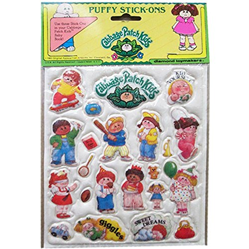 Cabbage Patch Kids Vintage Puffy Stickers Style 2 (1 sheet)