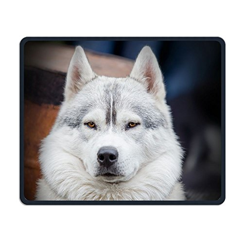 Computer Gaming Mouse Pad Dog Face Close Up Laptop Pad Non-Slip Rubber Stitched Edges 11.8 X 9.8 Inch -