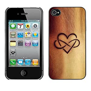 Design Hard ShellInfinite Love Ink Golden Brown For Samsung Galaxy S6 Case Cover