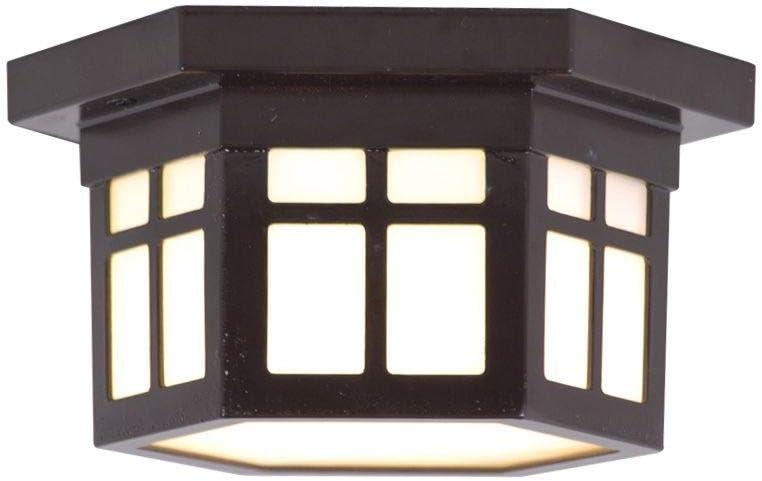 Home Decorators Collection LED Outdoor Hanging Antique Bronze Flush Mount