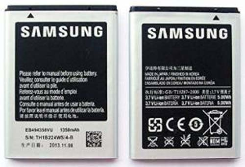 Battery for Samsung Galaxy Ace S5830 S5660 S5670 1350mAh EB494358VU Replacement Part Mobile Phone Accessory (1,350 Mah Replacement)