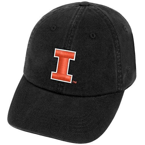 (Top of the World Illinois Illini Men's Hat Icon, Black, Adjustable)