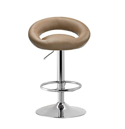 Modern Simple Style Bar Chair Lift Rotating Chair Home High Stool Adjustable Height With Backrest Increase Chassis Chair Seat Latest Fashion Furniture Bar Furniture