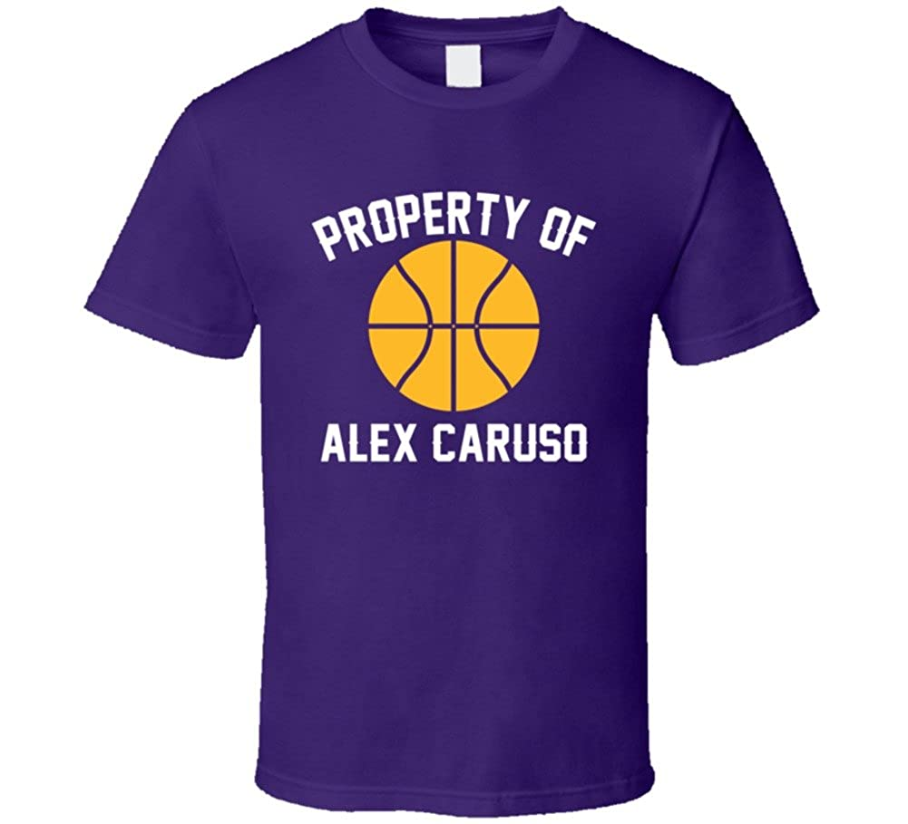 55c9dce2df9 Amazon.com  Alex Caruso Property of Los Angeles L Basketball Sports Athlete T  Shirt  Clothing