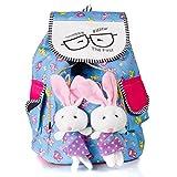 Dakshinkala Girls'S Backpack Bunny Bag (Multicolor,10X23X38 Cm)
