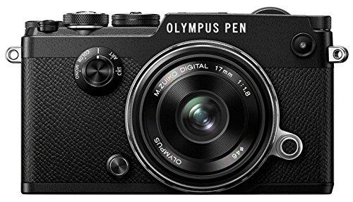 Olympus PEN-F Systemkamera (20,3 Megapixel, 7,6 cm (3 Zoll) TFT LCD-Display, elektronischer Sucher mit 2,36 Mio. OLED, Full-HD, WLAN, Metallgehäuse) Kit inkl. 17mm 1:1.8 Objektiv schwarz