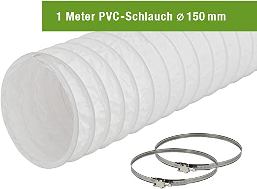 Wäschetrockner Schlauch Abluftschlauch Ø 152 mm 3 Meter für Klimageräte