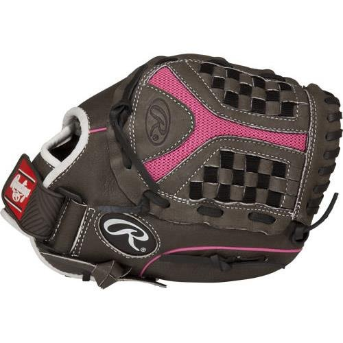 (Rawlings Sporting Goods Youth Storm Series Glove with Basket Web, Left Hand, Size 11, Gray)