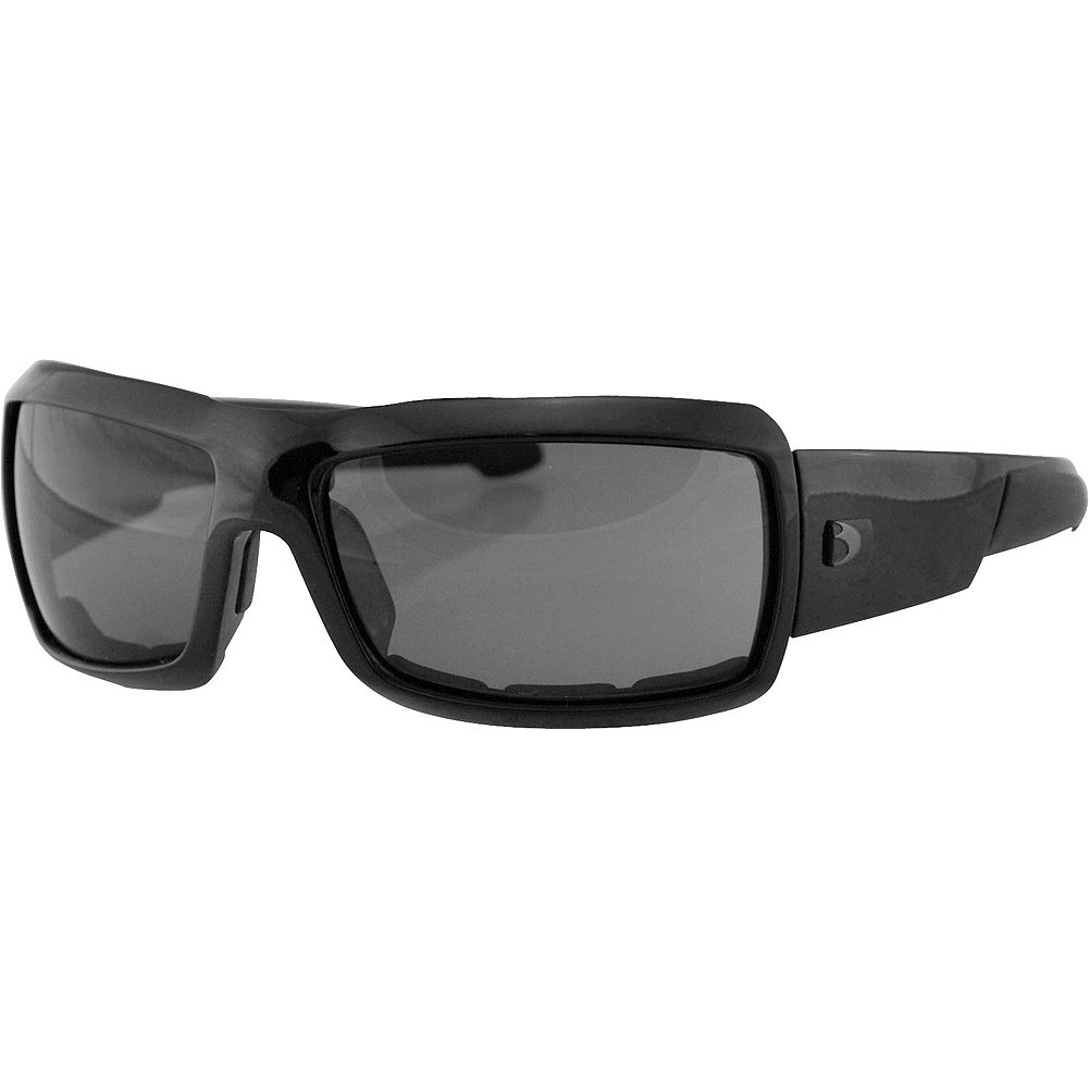 Bobster Adult Trike Sports Motorcycle Sunglasses, Black/Smoke, Small