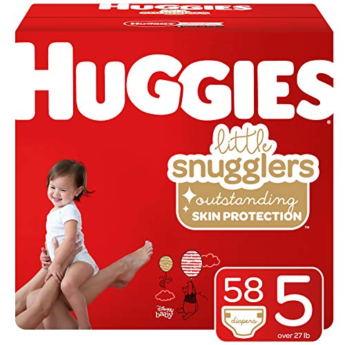 Huggies Little Snugglers Baby Diapers, Size 5, 58 Count (Packaging May Vary)