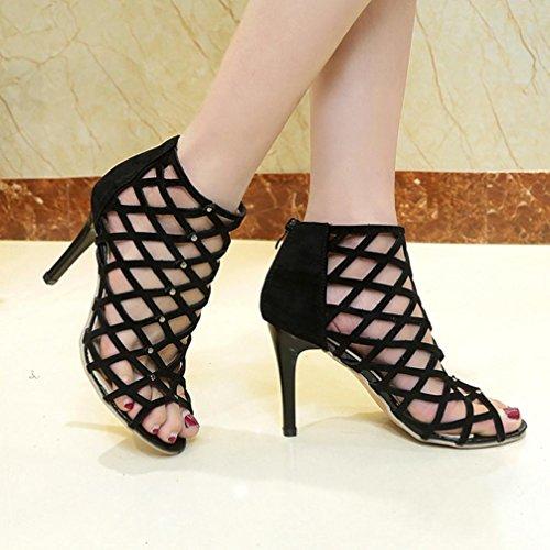 Lolittas Chaussures Hauts Rivet Talons Gladiateur Des 40 Femmes Toe Romain Peep Sandales rYrw0A7