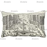 Zazzle Oil Painting Of Fountains At Garden Of Versailles Throw Pillow 13'' x 21''