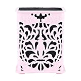 Yosoo Scissors Combs Clips Holder Box, Combs Clips Storage Case Stand Desk Accessories Tools Organizer Pink