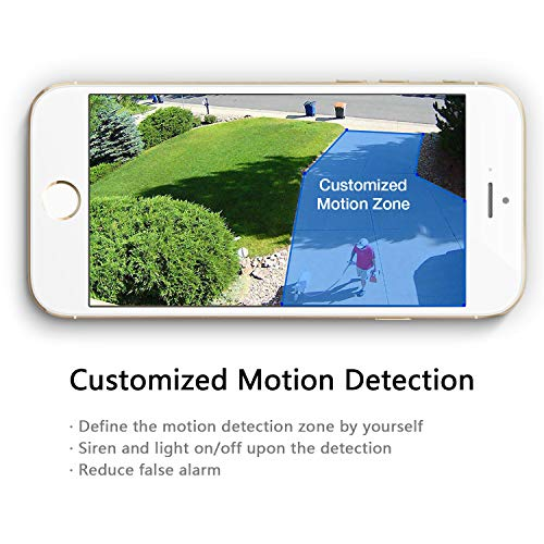 SENS8 Outdoor Camera with Light, 1080p HD, Wi-Fi Home Security Camera, No Subscription, Customized Motion Zone, Motion Detection, Night Vision, Two-Way Audio and Siren Alarm by SENS8 (Image #2)