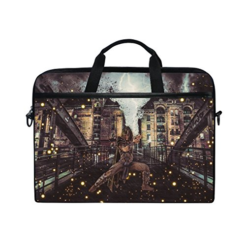 Rh Studio Laptop Bag Magician Sorcerer Art Laptop Shoulder Messenger Bag Case Sleeve For 14 Inch To 15.6 Inch With Adjustable Notebook Shoulder Strap ()