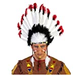 primerry Native American Indian Style ostrich feather Cacique headdress