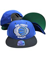 Orlando Magic Blue/Black Tone Plastic Snapback Adjustable Snap Back Hat/Cap