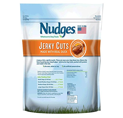 Nudges Duck Jerky Dog Treats, 16 oz