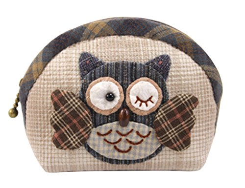 Sewing Coin Purse - Owl Coin Purse Easy Sewing Project Sewing Kit For Girls Beginners (Blue)