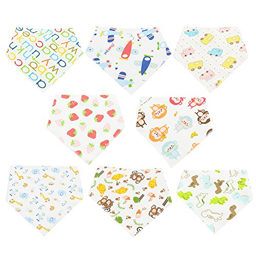 [Zando Soft Cute Cotton Absorbent Unisex Baby Bandana Anti Smell Drool Bibs A 6 Pack-Randomly Choose] (Cute Maternity Costumes Halloween)