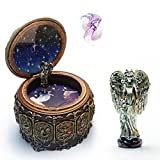 HANYI Vintage Mechanical Classical Collectible Translucidus Music Box with Twelve constellations, Plays Castle in the Sky - Capricorn