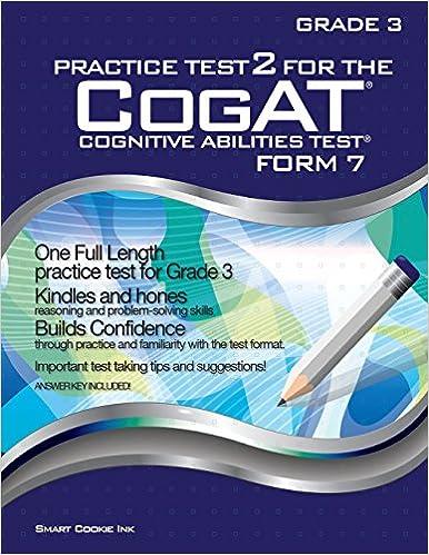 Amazon com: Practice Test 2 for the CogAT - Form 7 - Grade 3 (Level