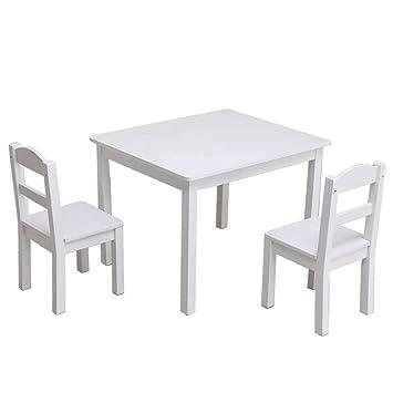 Amazon.com: Juego de mesa y sillas de madera para niños de 3 ...