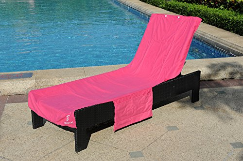 Perfect Beach or Pool Lounge Chair Towel Cover with Convenient Storage (Target Patio Furniture Covers)