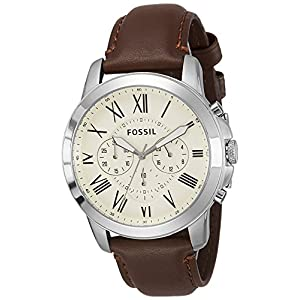 Fossil Grant Chronograph Beige Dial Men's Watch – FS4735