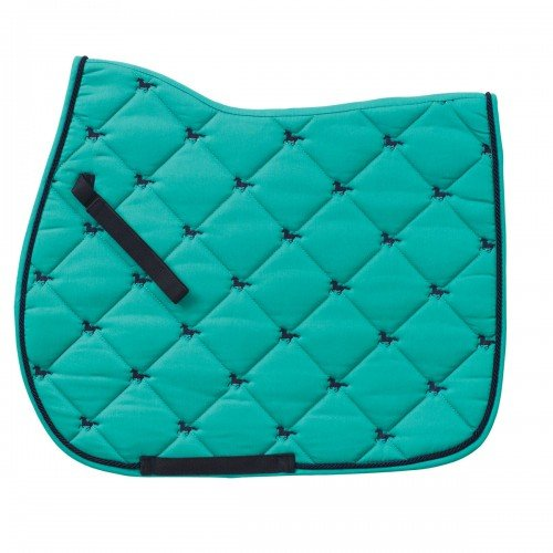 Centaur Embroidered Horses Saddle Pad Teal/Navy All-Purpose