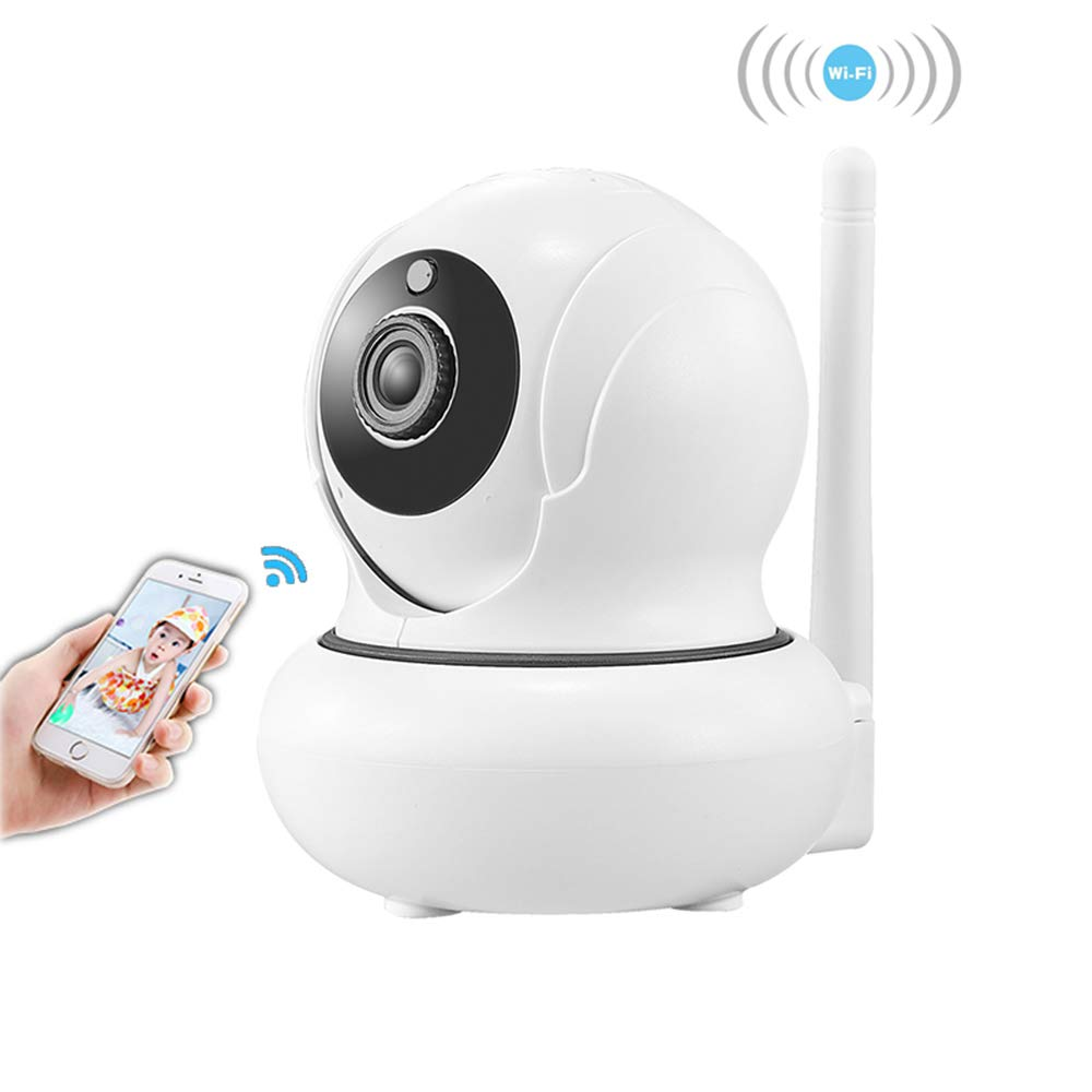 1080p HD Indoor Wireless Smart Home Camera, IP Security Surveillance Indoor Camera System with Night Vision Function, Auto Face Recognition, 4X Zoom in Out Function for Pet Baby Elder